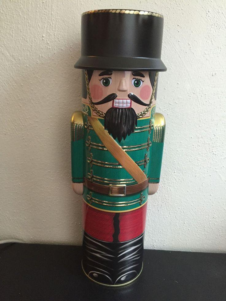 Harry London Chocolate Christmas Nutcracker Embossed Tall Soldier Tin Empty | eBay