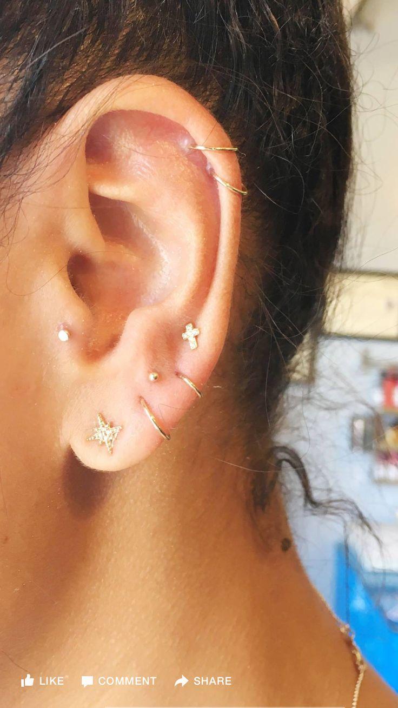 Earlobe piercing bump   best EARRINGS images on Pinterest  Piercings Earrings and
