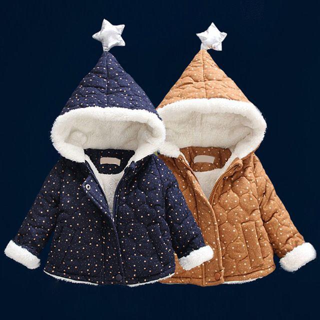 Зимнее пальто для малышей унисекс Модная хлопковая одежда ...