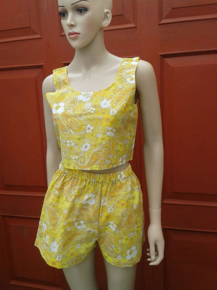Rare Paisley handmade two piece summer festival 2016 co ord UK size 8 - 10 in Clothes, Shoes & Accessories, Women's Clothing, Other Women's Clothing   eBay