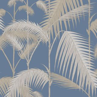 Cole & Son: gorgeous slate blue wallpaper with exotic feminine feel