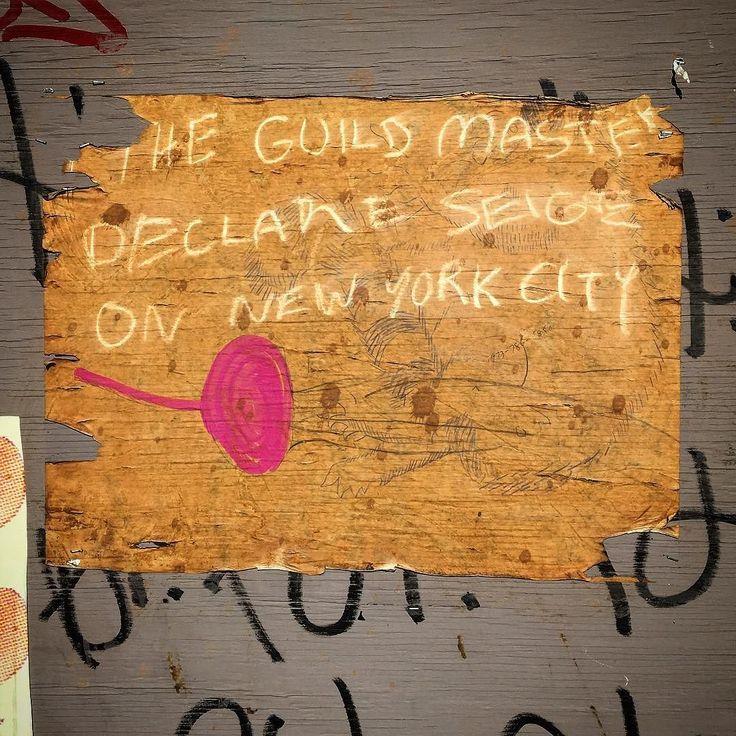 """The Guild Master"" #soho #streetart #type #theguildmaster #graffiti #graffitiart #nyc by timmckee"