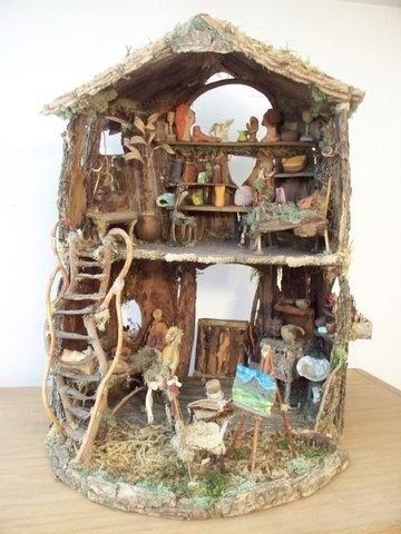 Fairy cottage: Fairy Gardens Houses, Craft, Fairies, Artists Cottages, Fairy Houses, Dollhouse, Artist S Cottage, Elf, Miniature