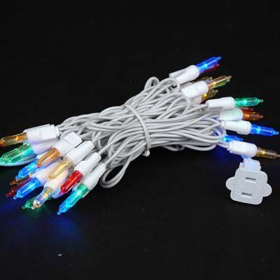 """Novelty Lights, Inc. CGT5-35 Commercial Grade LED Christmas Mini Light Set, T5 Bulb (Traditional Style), Multi Color, White Wire, 35 Light, 4"""" Spacing, 11.5' Long, Connect 43 by Novelty Lights. $9.25. Full Wave Rectification Technology - No Flickering. 35 Light Multi T5 Traditional LED Christmas Light Set - Connect 43 End to End. Commerical Grade with Non-Removable Bulbs - Energy Star Qualified. If a Bulb Burns Out the Rest Remain Lit - UL Listed Indoor/Outdoor. Length: 11.5' ..."""