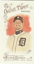2014 Topps Allen Ginter Baseball Mini #311 Anibal Sanchez, Detroit Tigers