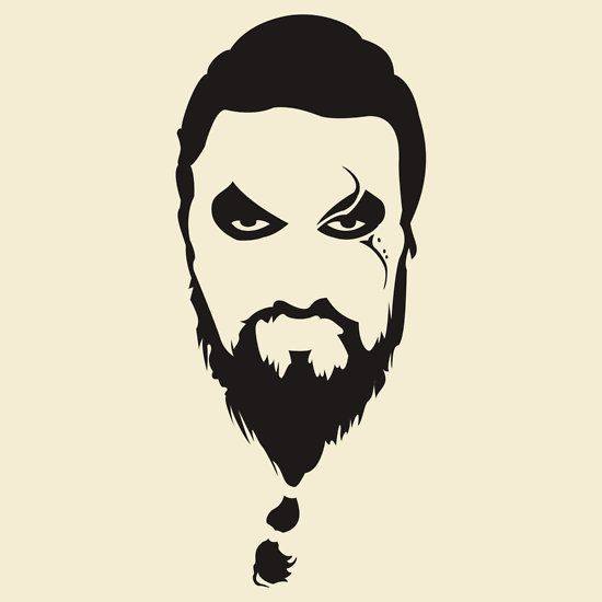 Khal Drogo Silhouette Game of Thrones by manoffreedom ...
