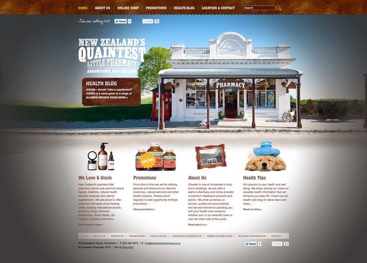 Website design & development for Arrowtown Pharmacy. http://www.arrowtownpharmacy.co.nz/