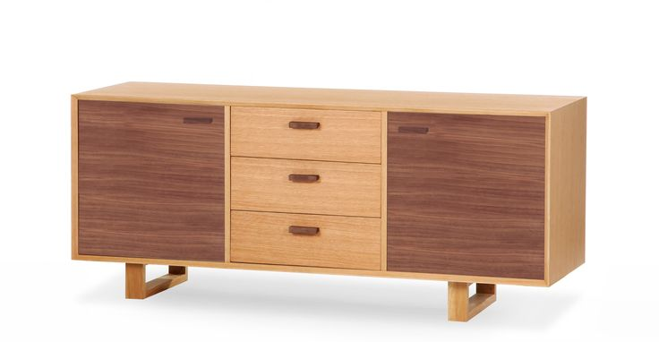 The retro style inspired Boundary sideboard in warm grey is understated yet stylish for the home or office.