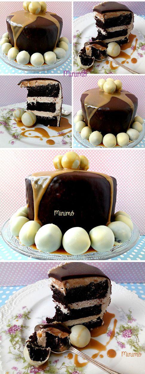 Tarta de chocolate y toffee