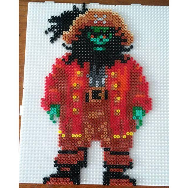 Ghost Pirate LeChuck - Monkey Island perler beads by robbertvd