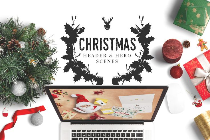 Christmas Header And Hero Scene Mockup 09 by Original Mockups on @originalmockups