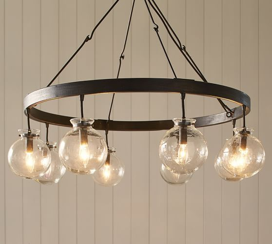 Barrett Glass Globe Chandelier | Pottery Barn