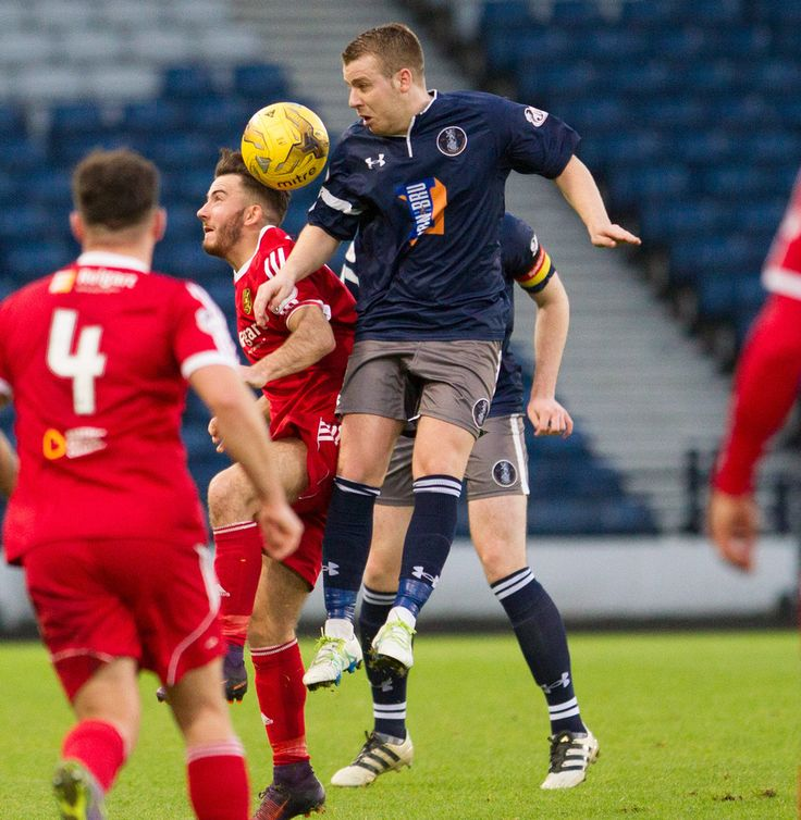 Queen's Park's Jamie McKernon in action during the Ladbrokes League One game between Queen's Park and Albion Rovers.