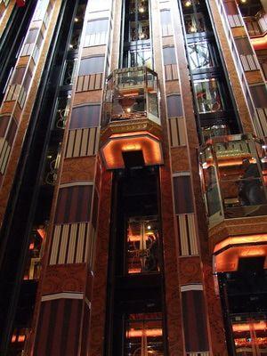 Costa Pacifica: Costa Pacifica - Atrium Elevators