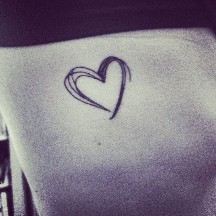 Small heart tattoo on ribs!                                                                                                                                                      More