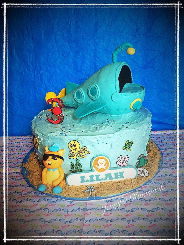 Kwazii from Octonauts cake by Jen Kwasniak