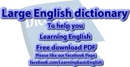 Large English dictionary PdF free to download