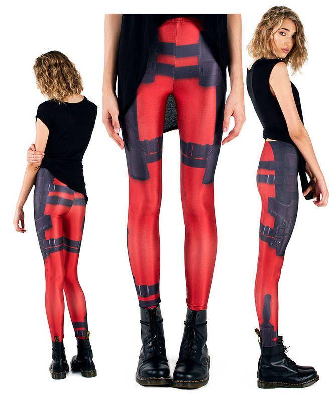 Deadpool leggings for the geek girl. I want sooooo bad!!!!