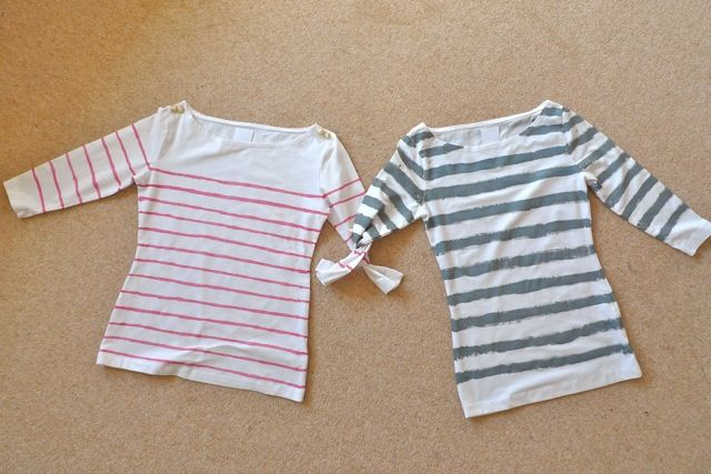Hand paint a breton top (how to via Tilly). I'm actually picturing a raspberry/purple top painted with white stripes...