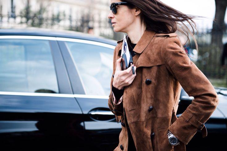Flying suede jacket  #PFW Pic by Alina Kolot http://www.lookbookkiev.com/paris-fw16-part1