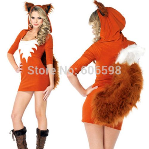 2014 Sexy Fox Uniform Temptation Outfit Halloween Fancy Dress Cosplay Party Costume