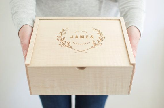 Keepsake Box  Wooden Box  Bridesmaid Gift  by Wayfaren on Etsy
