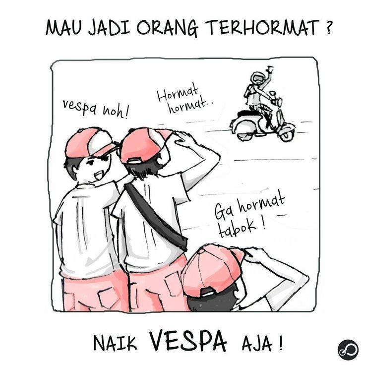 Pernah ngalamin?. Setuju yg mana?. (1) Ada yg bilang karna vespa adalah kendaraan roda 2 yg sering dipakai para guru dijamanya.. (2) Mungkin juga karna sejarahnya vespa yg dulunya merupakan kendaraan pejuang yg dipakai di jaman perang . . .  #scooter #meme #vespa #comic #comicstrip #vespaindonesia #vespaindo #vespaina #vespagram #vespasuper #retro #vintage #vesparetro #art #classic #vespaclassic #vespa150 #exploreindonesia #art #artwork #illustration #vector #illustrator #design #drawing by…