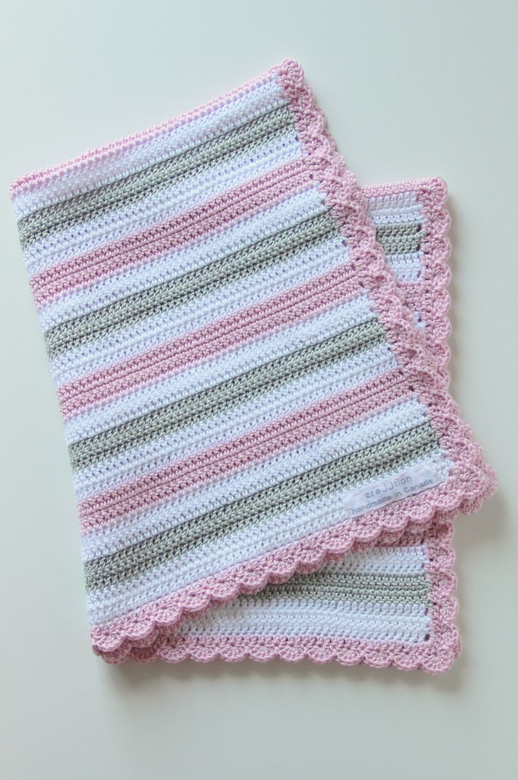 Crochet pattern baby blanket. I'll make my own pattern. Boarder is a sc in every stitch the shell is a 5 stitch in one sc with skipping 3.