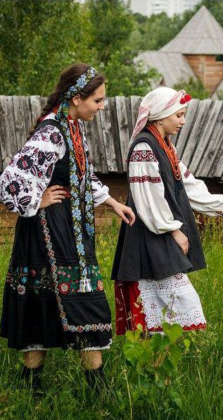 Ukraine - love this very natural simple elegance of the ladies of the countryside!