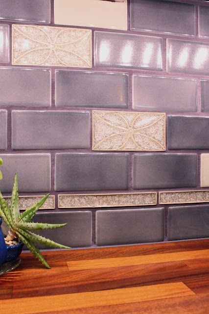 Violet Tile Backsplash (Julie's Kitchen)
