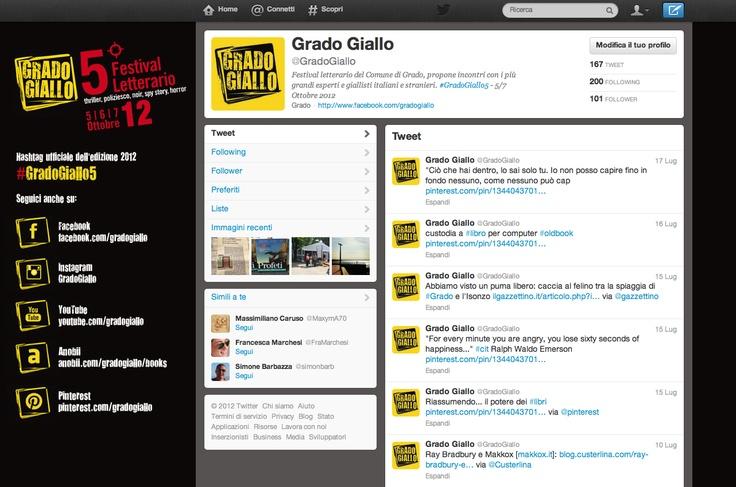 Il #Twitter di @Grado Giallo , #Festival letterario organizzato dal comune di #Grado #libri #book