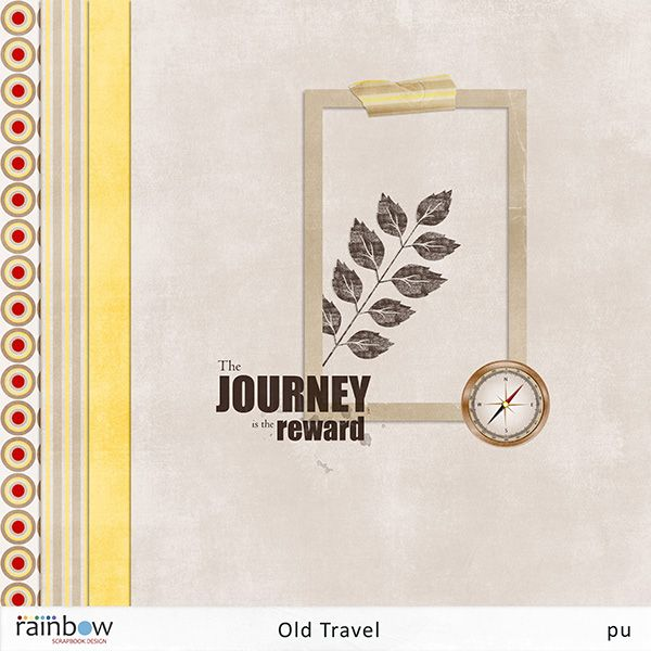 Freebies: Old Travel tiny kit freebie from Rainbow Scrapbook Design