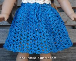 American Girl Doll Seashell Summer Skirt / Free Pattern