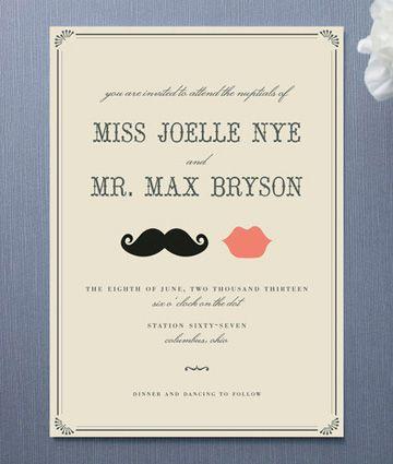 Invitación de Matrimonio Vintage -- Fotografía: Minted