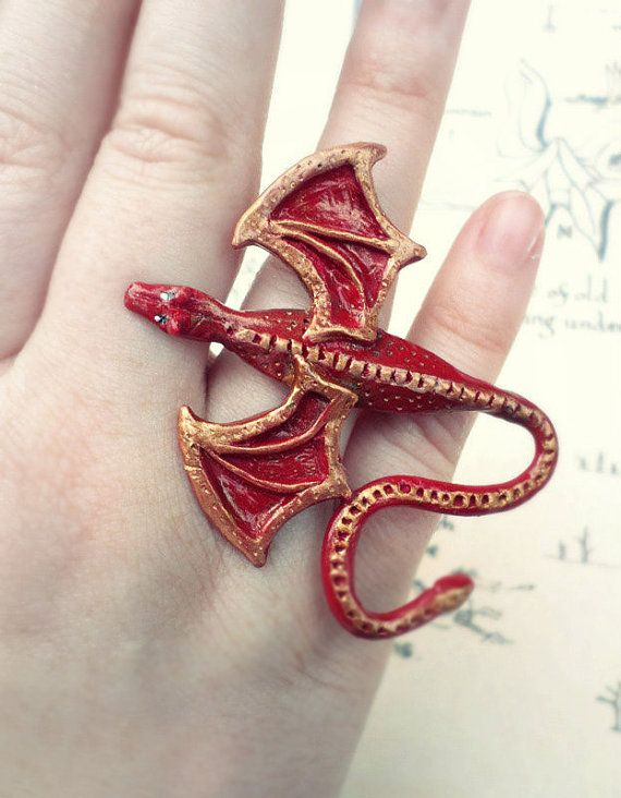 Smaug Desolation of Smaug Hobbit Polymer Clay by Middleearthgirls, $15.00