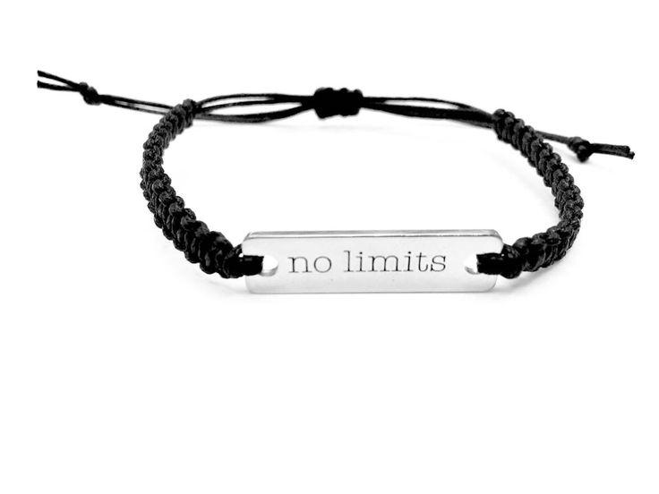 No Limits Bracelet, Word Bracelet