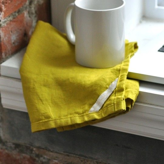 Small Batch Production: Simple, Hardworking Linens for the Kitchen — Designer Spotlight  Cloth napkins make me weak in the knees.