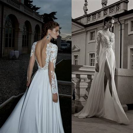 Cool Unique Lace Wedding Dresses With Open Back 2018