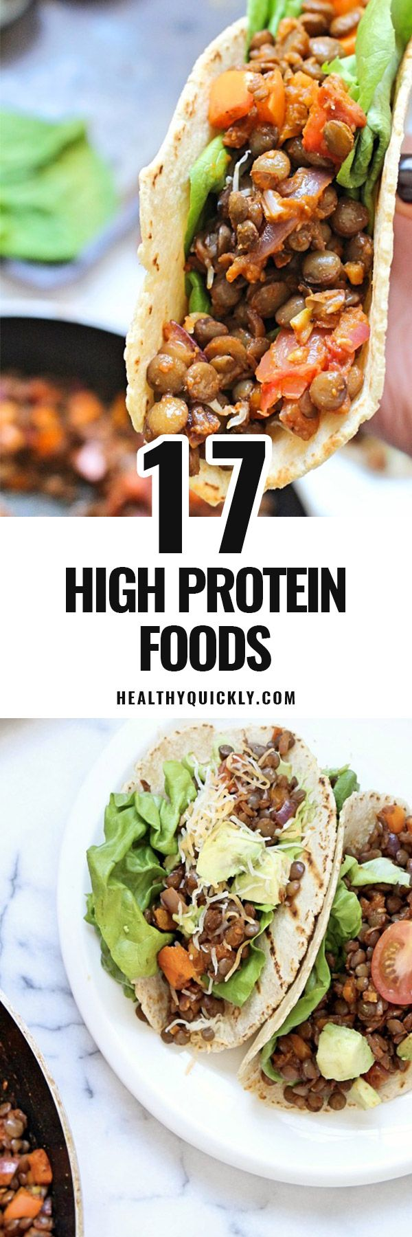 A list of high protein foods for weight loss. Low carb, healthy and useful for many recipes. Great for build muscle, for kids and for pregnancy. Also included foods for vegetarian and vegan. To have them at breakfast, for lunch and for dinner to help your