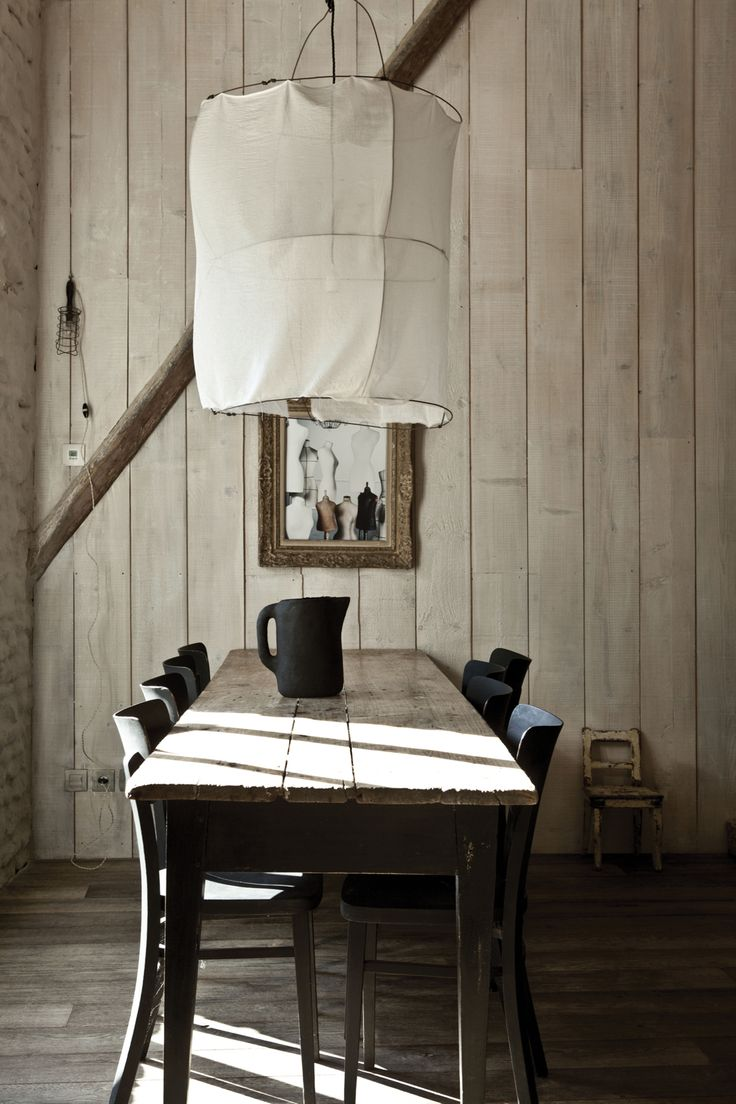 .: Dining Rooms, Lampshades, Lights Fixtures, Summer House, Rustic Interiors, Milk Magazines, Rustic Chic, Families, Dining Tables