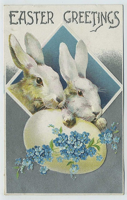 Easter Bunnies - would make a great card printed on card stock