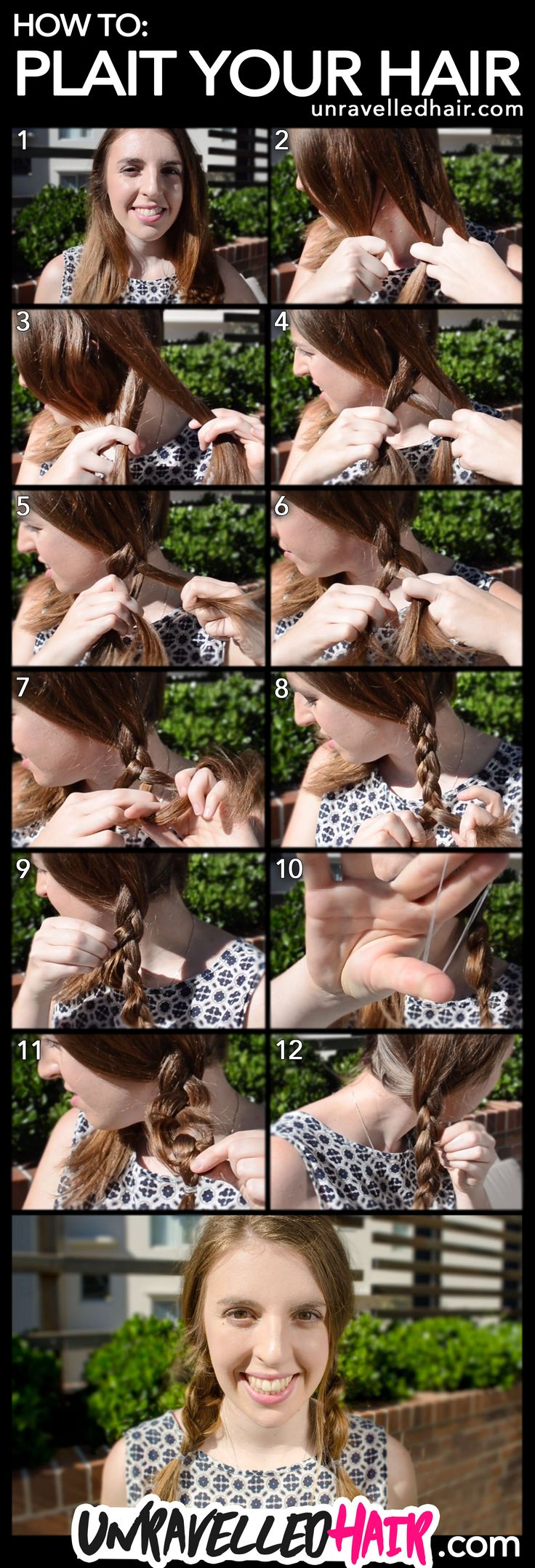 How to Plait Your Hair Tutorial