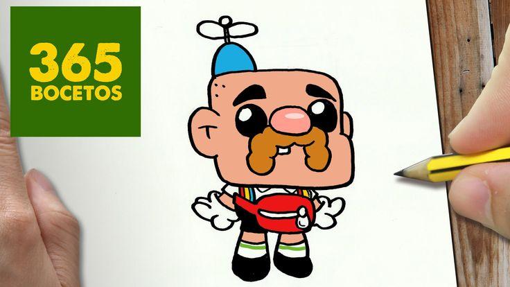 COMO DIBUJAR TÍO GRANDPA KAWAII PASO A PASO - Dibujos kawaii faciles - H...