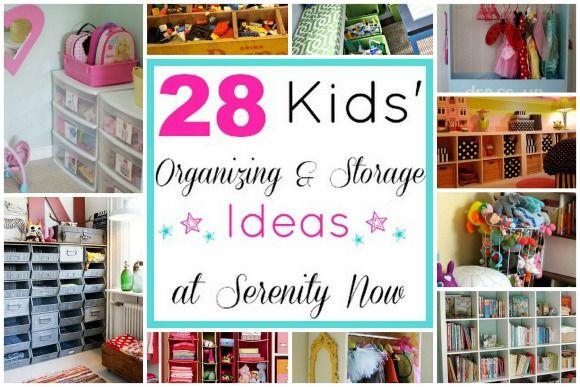 kids organization ideas | Kids' Toy Organization and Storage Ideas, via Serenity Now blog
