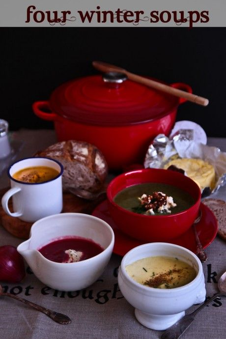 Four Easy Soups To Get You Through Winter: Food Recipes, Yummy Recipes, Pumpkin, Heartwarming Soups, Winter Soups, Easy Soup Recipes, Borscht Beetroot, Easy Soups