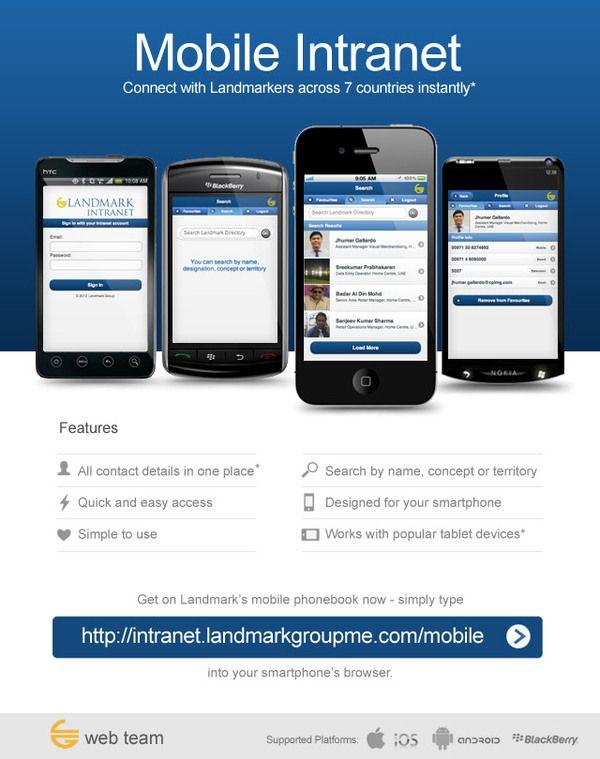 Landmark Group Intranet Mobile App - Email Design by Vener Sarmiento, via Behance
