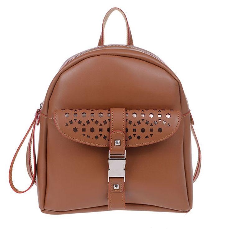 ΤΣΑΝΤΑ PIERRO 00173 ΤΑΜΠΑ  Τσάντα πλάτης με εξωτερικό μπροστινό τσεπάκι,  διακοσμητική κλειδαριά και πίσω τσέπη με φερμουάρ.  Ύψος29  Πλάτος27