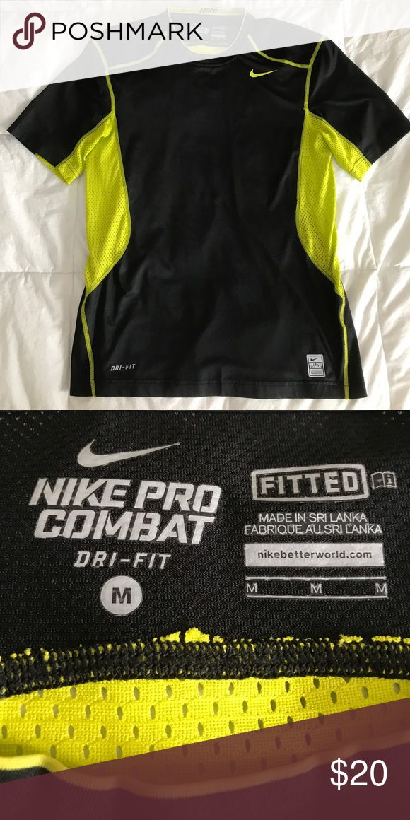 Men's Nike Pro Combat Dri-Fit Short Sleeve Shirt Men's Nike Pro Combat Dri-Fit Short Sleeve Shirt - mesh sides, fitted Nike Shirts