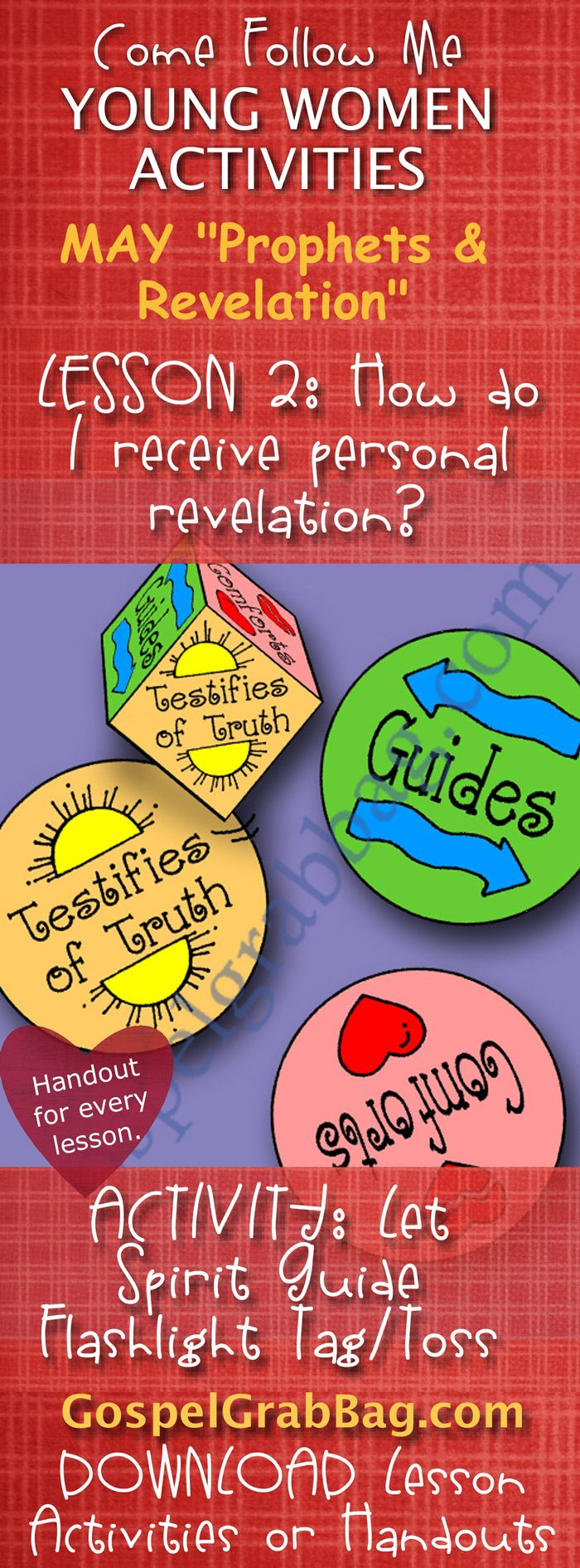 REVELATION - HOLY GHOST: Come Follow Me – LDS Young Women Activities ...