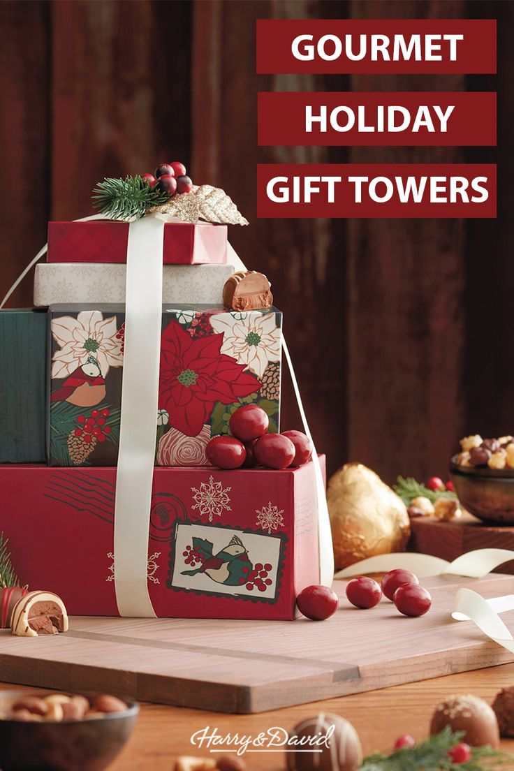 18 best gifts for coworkers images on pinterest gifts for our holiday gift tower collection is filled with gourmet presents for any occasion from christmas negle Image collections